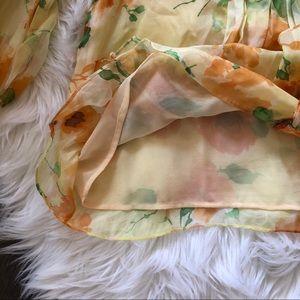 Sundance Tops - Sundance 100% Silk Floral Gathered Layer Blouse L